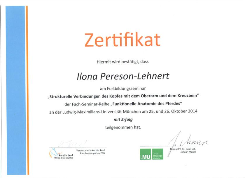 Zertifikate - Praxis für Tierphysiotherapie & Pferdeosteopathie